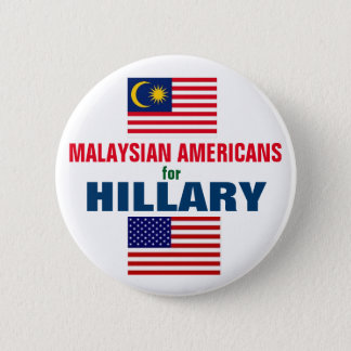 Malaysische Amerikaner für Hillary 2016 Runder Button 5,7 Cm