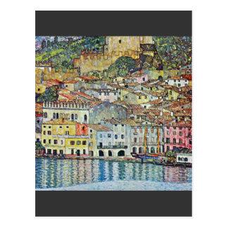Malcena beim Gardasee durch Gustav Klimt Postkarte