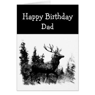 Mâle vintage de papa de joyeux anniversaire, carte de vœux