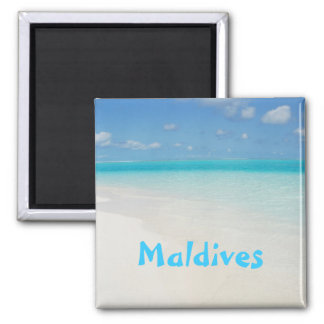 Malediven-Flitterwochenstrand-Inselszene Quadratischer Magnet