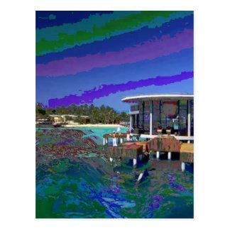 Maledivische Insel-Meer sieht Postkarte