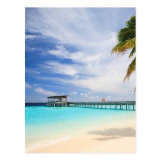 Maledivisches Entweichen Postkarte