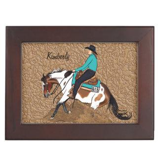 Malen Sie lenkenden Pferdeandenken-Kasten Erinnerungsdose