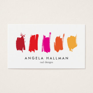 Malen Sie Muster rote/orange Visitenkarte