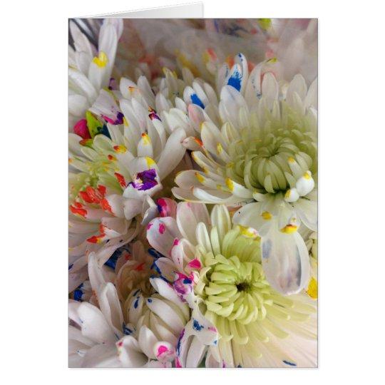 Malen Sie Spritzen-Blumen-Geburtstag Frameable 7x5 Karte