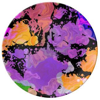 Malen Sie Spritzen-Spritzer-Druck-Platte (lila Teller