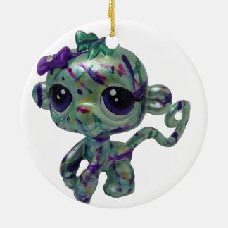 Malen Sie Spritzer-Affe-Verzierung Keramik Ornament