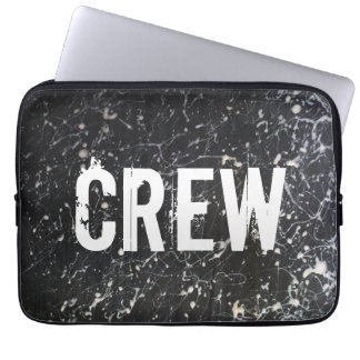Malen Sie Spritzer CREW | Holzkohle und Weiß Laptopschutzhülle