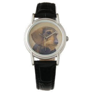 Malende ursprüngliche Hundekunst der Armbanduhr