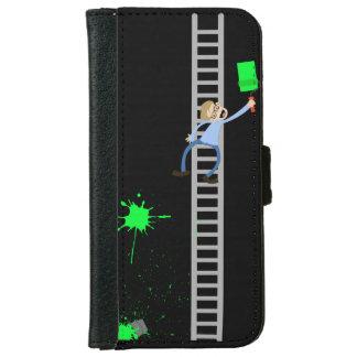 Maler-grüner Spritzer iPhone Geldbörsen-Kasten Geldbeutel Hülle Für Das iPhone 6/6s