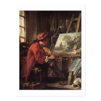 Maler in seinem Studio - François Boucher Postkarte