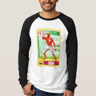 Malerei der Baseballkarte T-Shirt