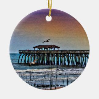 Malerei des Piers bei Myrtle Beach - Verzierung Keramik Ornament