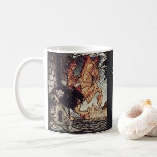 Malerei Edgar Allan Poes Metzengerstein von Kaffeetasse