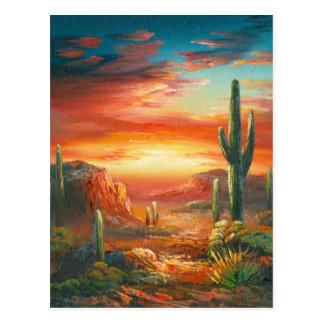 Malerei einer bunten postkarte