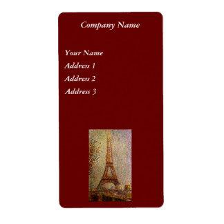 Malerei Georges Seurats: Der Eiffelturm (1889)