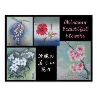 Malerei-Postkarten-Okinawan schöne Blumen Postkarte