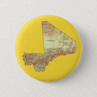 Mali-Karten-Knopf Runder Button 5,1 Cm