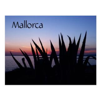 Mallorca-Sonnenuntergang, Spanien Postkarte