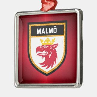 Malmö Flagge Silbernes Ornament