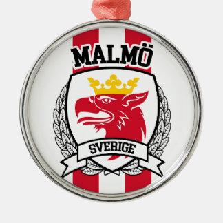 Malmö Rundes Silberfarbenes Ornament