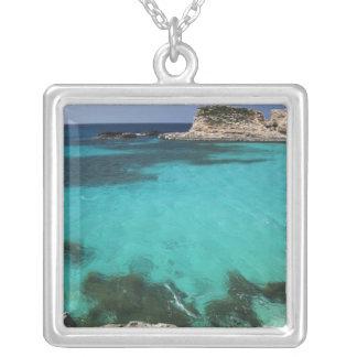 Malta, Comino Insel, die blaue Lagune Versilberte Kette