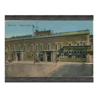 Malta - königlicher Palast, Vintag Postkarte