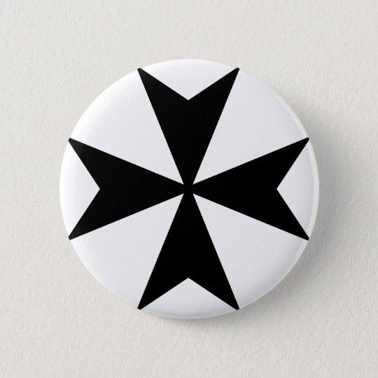Malteserkreuz Runder Button 5,7 Cm