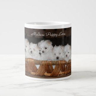 Maltesisch, Welpe, Liebe, Küche, Kaffee, Tee Jumbo-Tasse