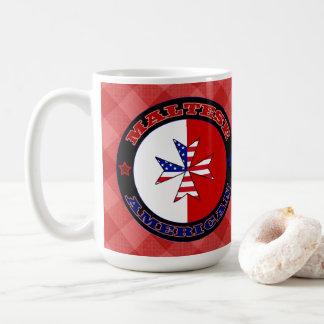 Maltesische amerikanische Querfahne-Schale Kaffeetasse