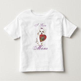 Maltesische Herz-Mamma Kleinkind T-shirt