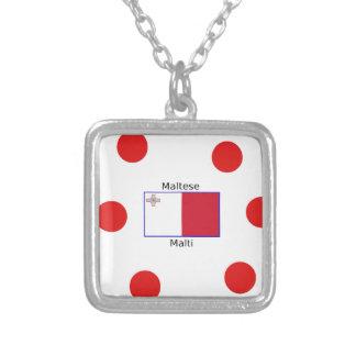 Maltesische (Malti) Sprache und Versilberte Kette