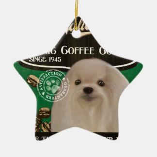 Maltesische Marke - Organic Coffee Company Keramik Stern-Ornament