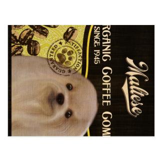 Maltesische Marke - Organic Coffee Company Postkarte