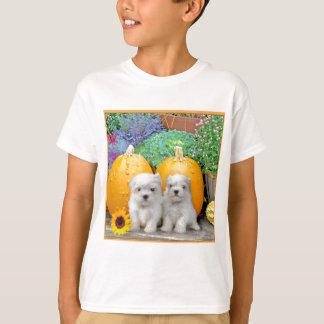 Maltesische Welpen des Erntedanks T-Shirt