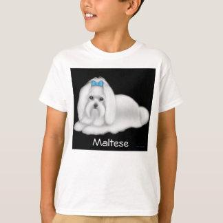 Maltesischer Hund scherzt T - Shirt