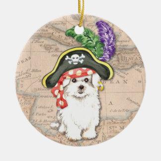 Maltesischer Pirat Rundes Keramik Ornament