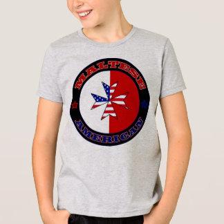 Maltesisches amerikanisches Querfahne-T-Stück T-Shirt