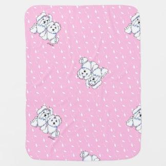 Maltesisches Mädchen-Baby oder Welpen-Decke Puckdecke