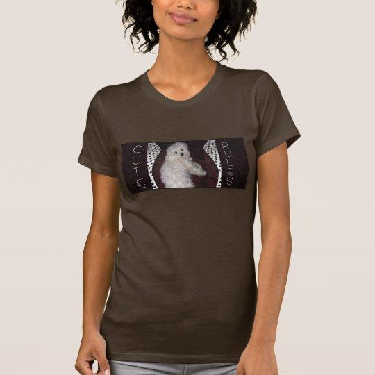 Maltesisches NIEDLICHES REGELN Mode-Shirt für T-Shirt