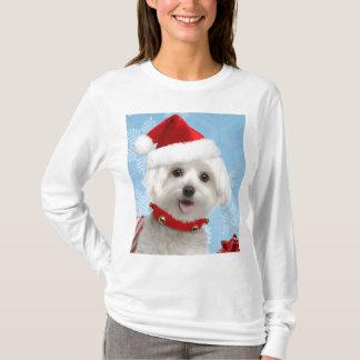 Maltesisches Welpen-WeihnachtsShirt T-Shirt