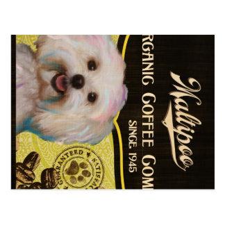 Maltipoo Marke - Organic Coffee Company Postkarten