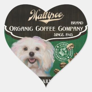 Maltipoo - Organic Coffee Company Herz Sticker