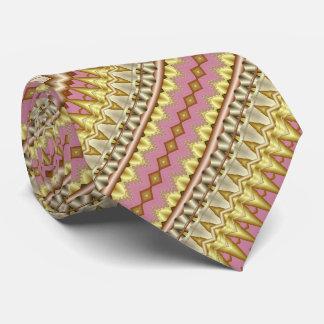 Malvenfarben-, Gold-und Taupe-diagonales Personalisierte Krawatte