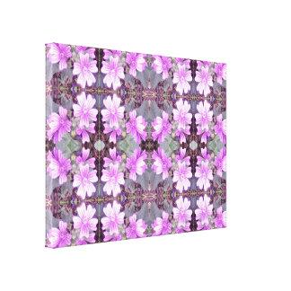 Malvenfarbene GrundLeinwand des Blumen-Fraktal-706 Leinwanddruck