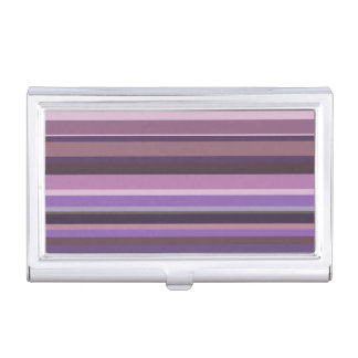 Malvenfarbene horizontale Streifen Visitenkarten Dose