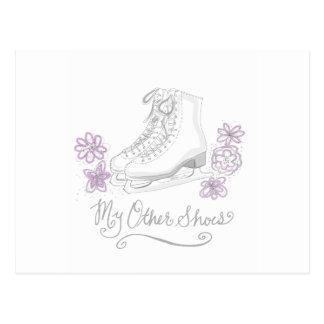 Malvenfarbene Zahl Skate-kundenspezifisches Postkarte