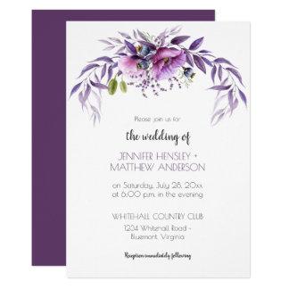 Malvenfarbenes Lavendel-violettes Karte