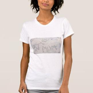 Mama auf der Strandstockfrau im Sand T-Shirt