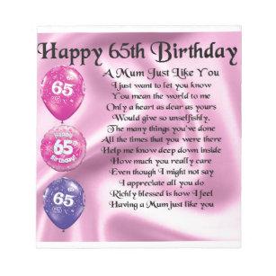 Geburtstag mutter 65
